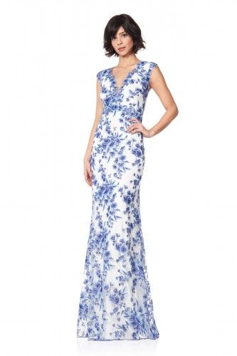 ATH15015L Sukienka okazjonalna #longdress #maxidress #floraldress #eveningdress