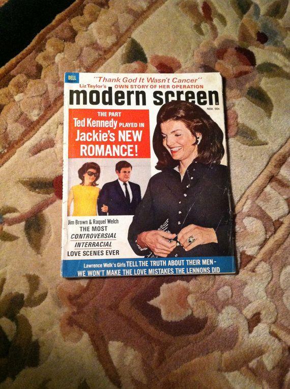 Vintage Modern Screen Magazines, Celebrity Gossip Magazines of Raquel Welch, Jacqueline Kennedy Onassis, Goldie Hawn, Paul Newman