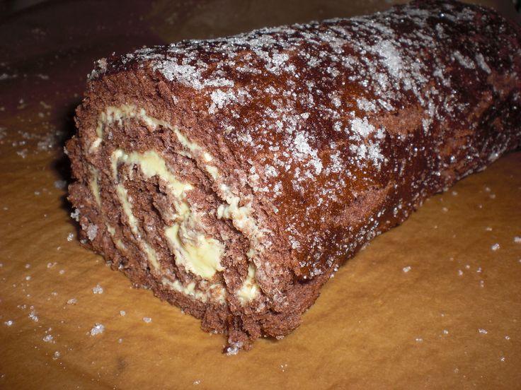 Sjokoladerullekake med smørkrem - Norges Beste Bakst