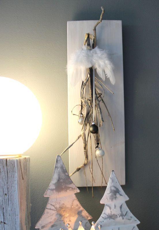 Aw129 Weihnachtswanddeko Aus Neuem Holz Dekoriert Mit Natürlichen