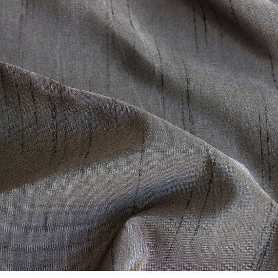 Charcoal Grey Art Silk Fabric By The Yard Silk Curtain Fabric Apparel Fabric Silk Dupioni Fabric Indian Silk Fabric By The Yard