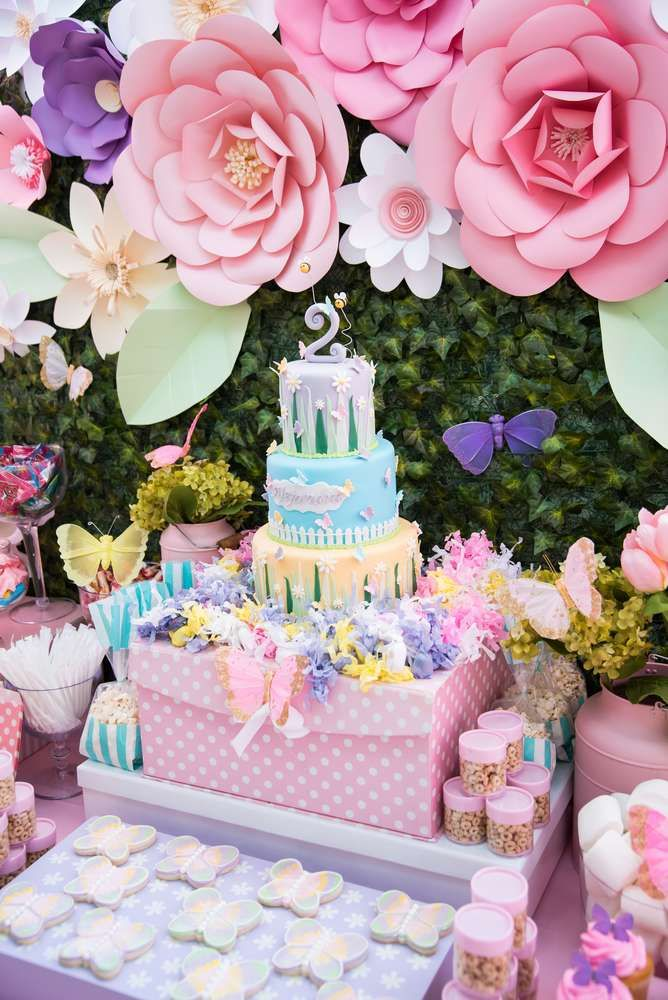 Best 25 flower birthday parties ideas on pinterest for B day party decoration ideas
