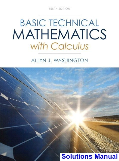 The 25 best calculus textbook ideas on pinterest math textbook basic technical mathematics with calculus 10th edition washington solutions manual test bank solutions manual fandeluxe Image collections
