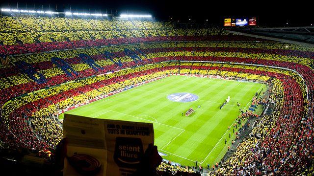 Imagen del mosaico del Camp Nou para el Clásico 2012/13 / FOTO: ÁLEX CAPARRÓS - FCB
