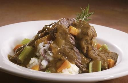 Bring some magic to your kitchen and try this Prime Time Pot Roast Recipe from Fifties Prime Time Cafe at Hollywood Studios in Disney World