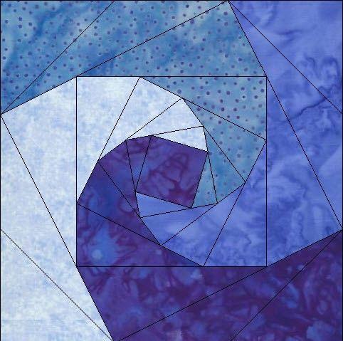 log cabin pieced quilt blocks free patterns | Log Cabin pieced foundation quilt pattern with a twist 6 inch in pdf ...