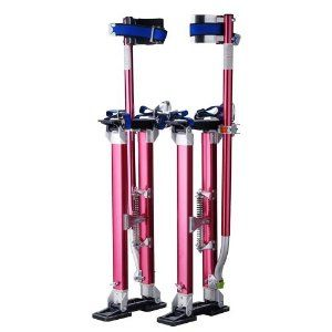 """Pentagon Tool """"Tall Guyz"""" Professional 24""""-40"""" Red Drywall Stilts For Sheetrock, Painting, or Cleaning by Pentagon Tool. $99.95. If you are in the market for a set of drywall stilts, stop looking! Pentagon Tool is an industry leader in drywall supplies and accessories. They sell more lifts, stilts, and accessories than most other sellers combined. You are bidding on a set of NEW premium grade Drywall Stilts. They are perfect for drywall painting, electrical,..."""