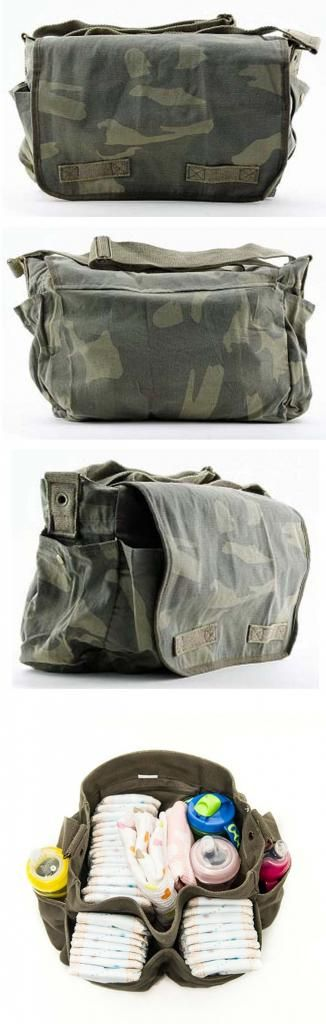 Camo Diaper Bag with loads of room! How much do I want this bag?!?!?