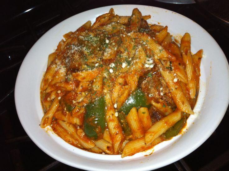 Mi Esquina Boricua y Más: Pasta rigatoni con salchicha italiana ( Italian sausage rigatoni)