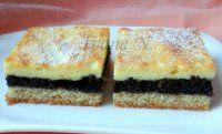 Křehký makový koláč s tvarohem