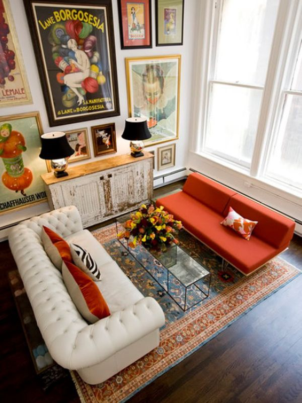 Family Room In A California Home With Neutral Taupe Couch, Eclectic Printed  Throw Pillows,