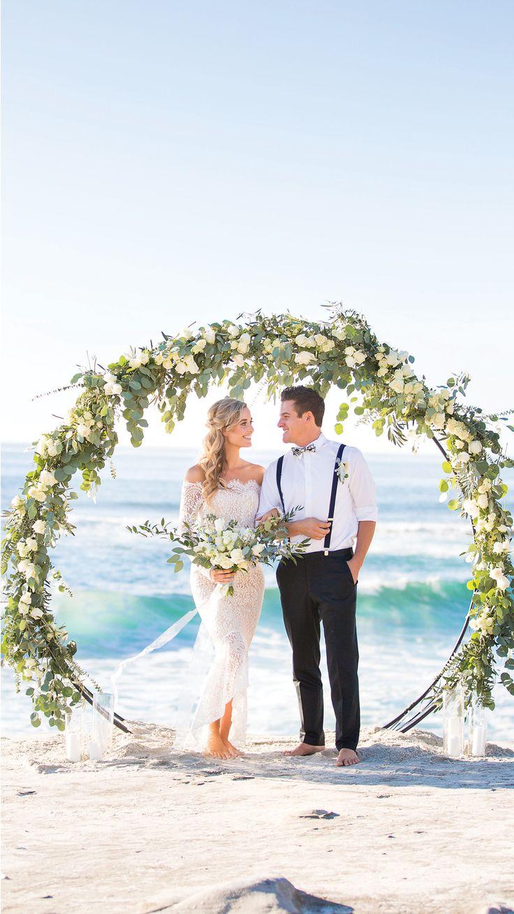 Barefoot Beach Bride for a Coastal Elopement