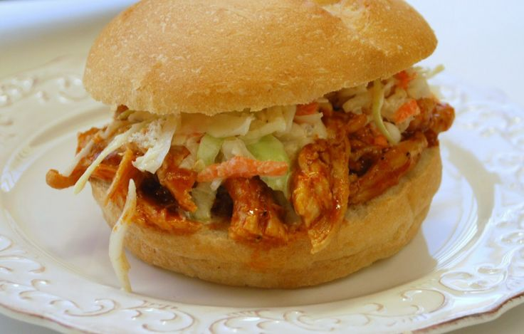 Barbecue Chicken Sandwiches with Slaw | The Main Dish | Pinterest