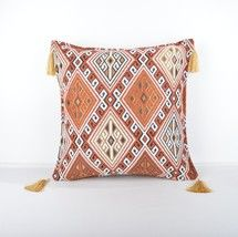16x16'' Fabric kilim Style pillow , Decorative Fabric Pillow - $13.00