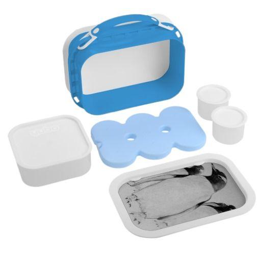 Penguin March Blue Yubo Lunch Box : GraysonArt : Zazzle.com