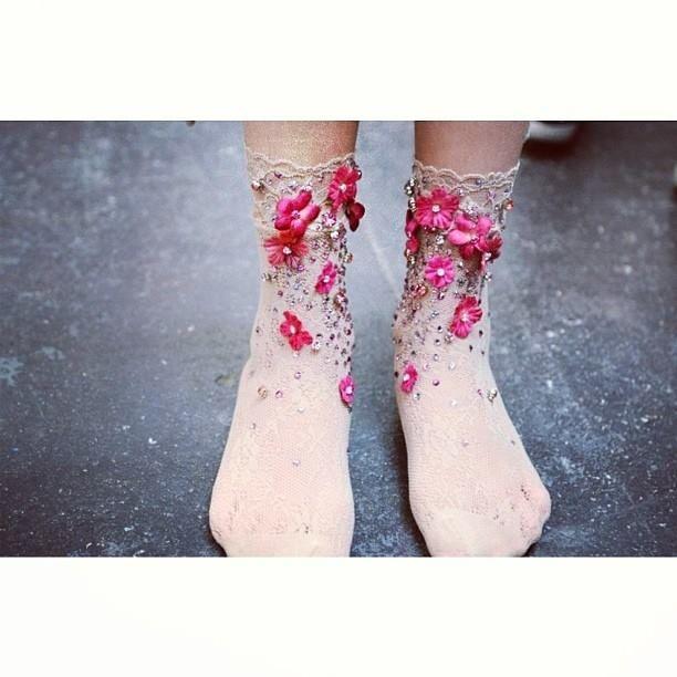Socks for the flower girl, Mischka Aoki.