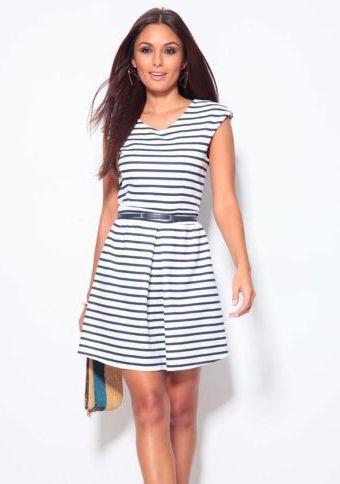 Námořnické šaty bez rukávů #ModinoCZ #strips #fashion #modern #trend #clothing #pruhy #oblékání #moda #trendy