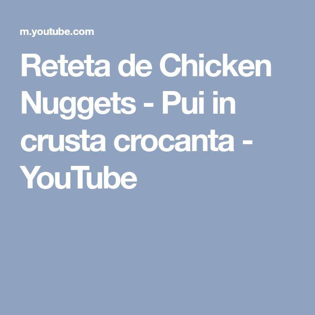 Reteta de Chicken Nuggets - Pui in crusta crocanta - YouTube