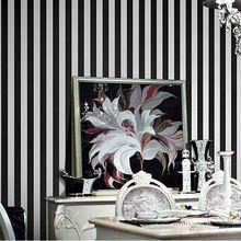 bianco e nero a strisce wallpaper per pareti carta da parati moderno strisce papel de parede rotolo per soggiorno in camera da letto(China (Mainland))