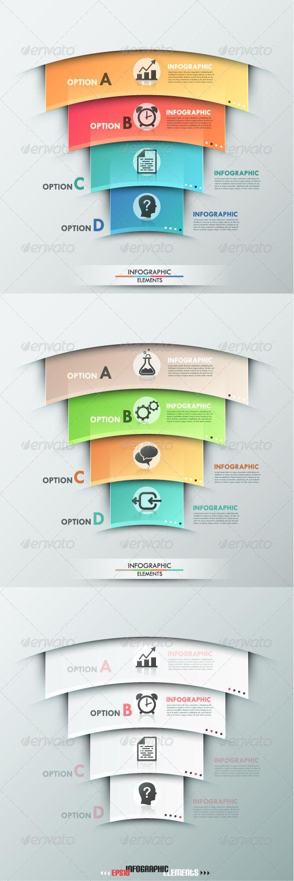 Modern Infographic Options Banner (Three Versions) Tempalte #design Download: http://graphicriver.net/item/modern-infographic-options-banner-three-versions/8257528?ref=ksioks