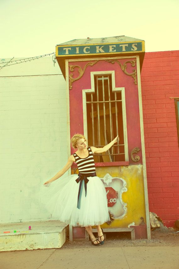 Striped Party Dress with Tulle Skirt  Cirque by Ouma by ouma, etsy.com #senior #style #kentsmithphotography
