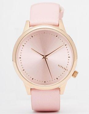 Komono - Estelle - Uhr mit hellrosa Lederarmband - Rosa