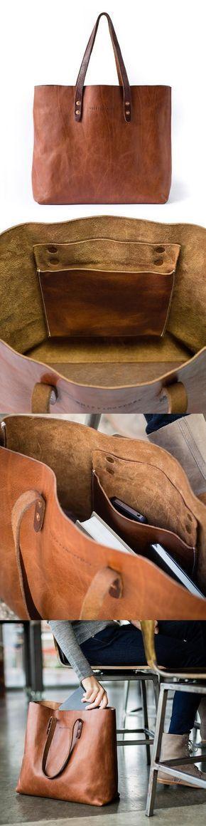 Tote design-pocket & straps use same rivets