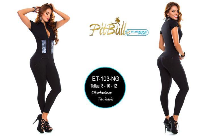 Hoy jeanspitbull.com amanece cargado de estrenos para que te veas genial en estas fiestas de navidad y fin de año #moda #mujeres #bellas #jeans #fashion haz tus pedidos o pide informacion al Wpp +57 3225076755 Enterizo negro, estiliza tu cuerpo