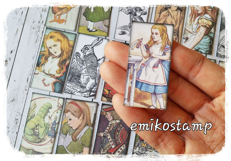 24 Alice in the wonderland paper ephemera,scrapbook,Tea Party Theme Favour Tags in Collectables, Paper, Postcards, Ephemera | eBay!