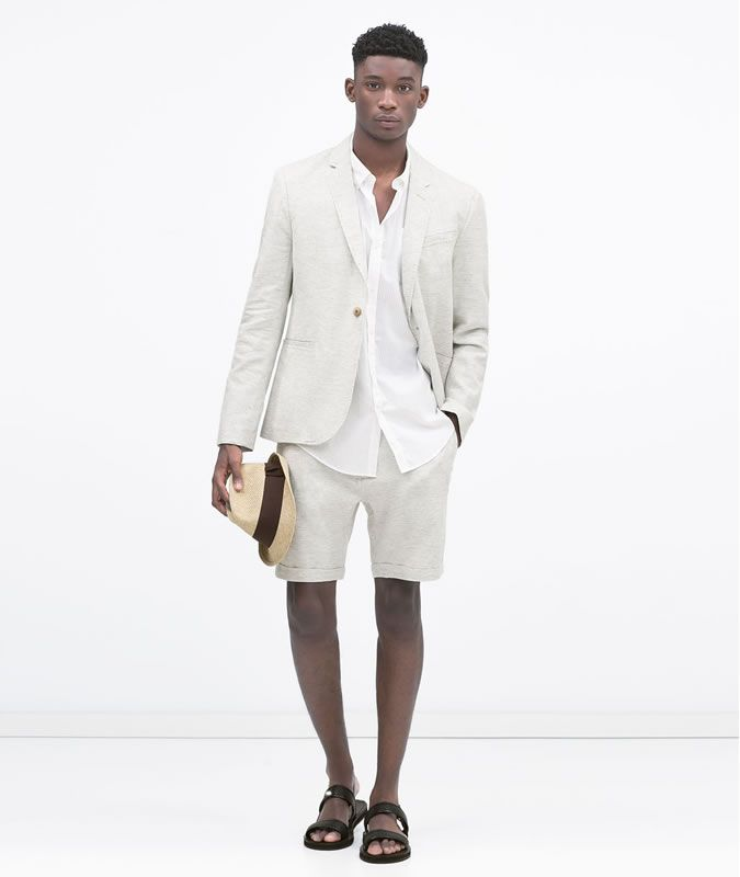 Men's Shorts Suit With A Linen Shirt