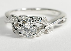 soooo pretty!!! Levalia Pavé Diamond Engagement Ring in 14k White Gold BlueNile