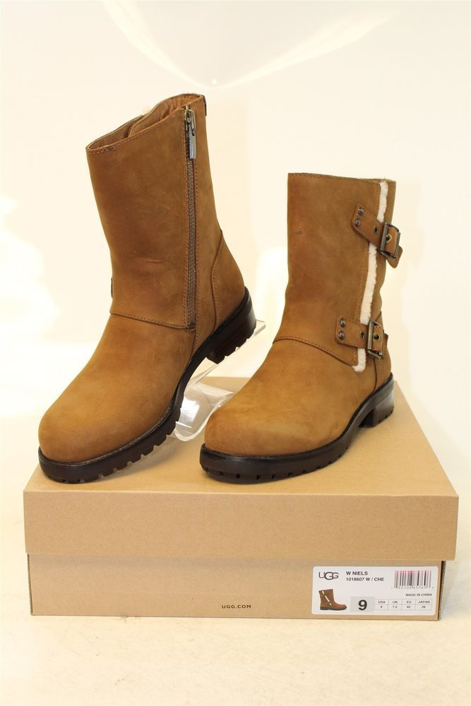 978dbb28397 UGG Australia Womens 9 40 Niels NEW Chestnut Suede Mid-Calf Boots ...