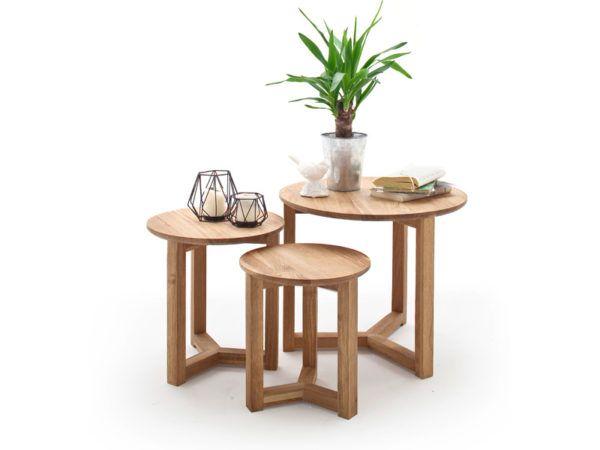Set De 3 Tables Basses Rondes Faye En 2020 Table Basse Ronde Table Basse Et Mobilier De Salon