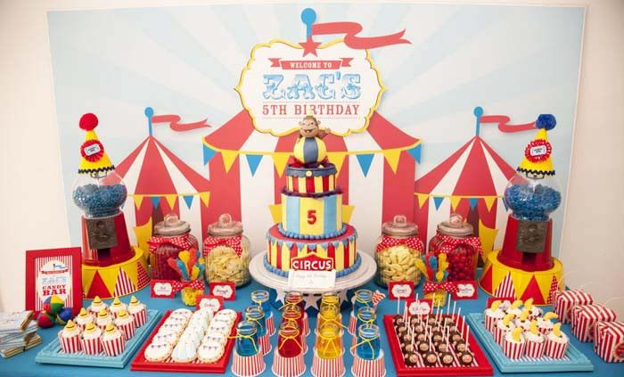 Curious George circus themed party