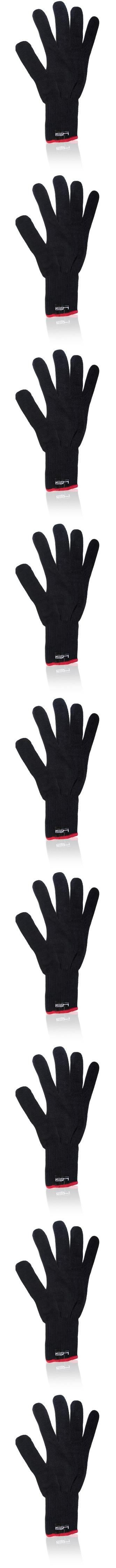 HSI Professional Heat Resistant Glove for Curling and flat iron. Black and red Heat resistant Gloves. One size fits all. Used for flat iron, curling iron, and hair dryers..  #HSI_Professional #Beauty