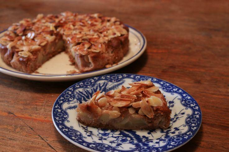 Gâteau pommes amandes {sans gluten}