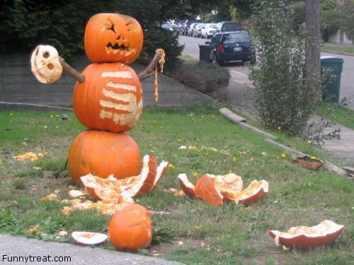 "Pumpkin version of ""COME AT ME BRO!"""