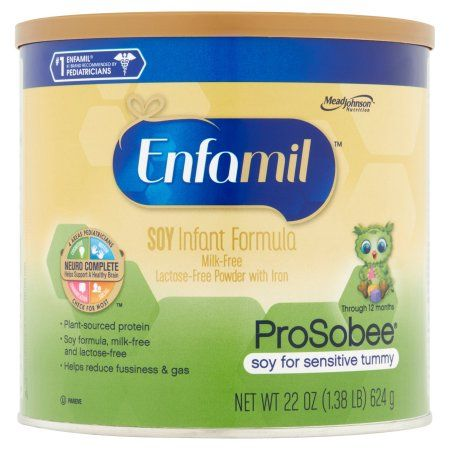 Enfamil Prosobee soy baby formula - 22 oz Powder Can (Pack of 4)