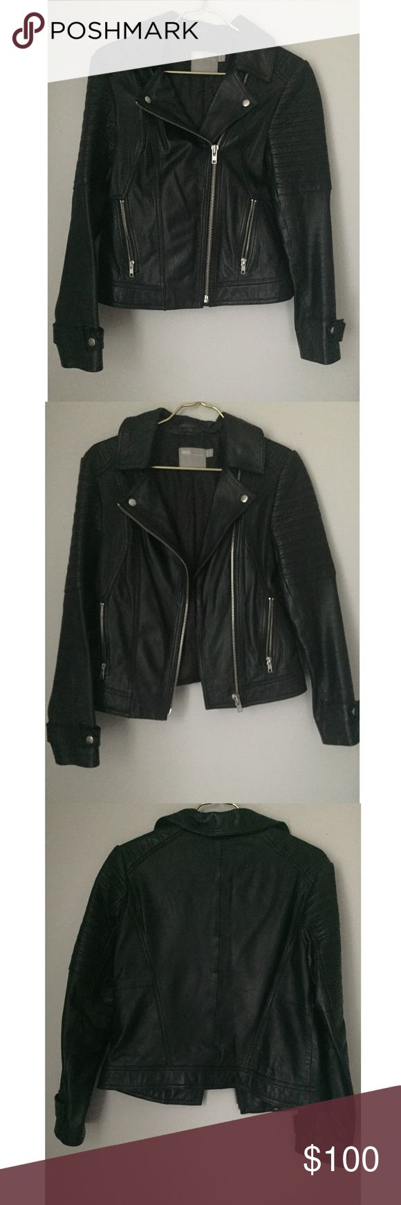 Leather Biker Jacket Leather biker jacket purchased from ASOS. Worn less than a handful of times.   NO TRADES! ASOS Jackets & Coats