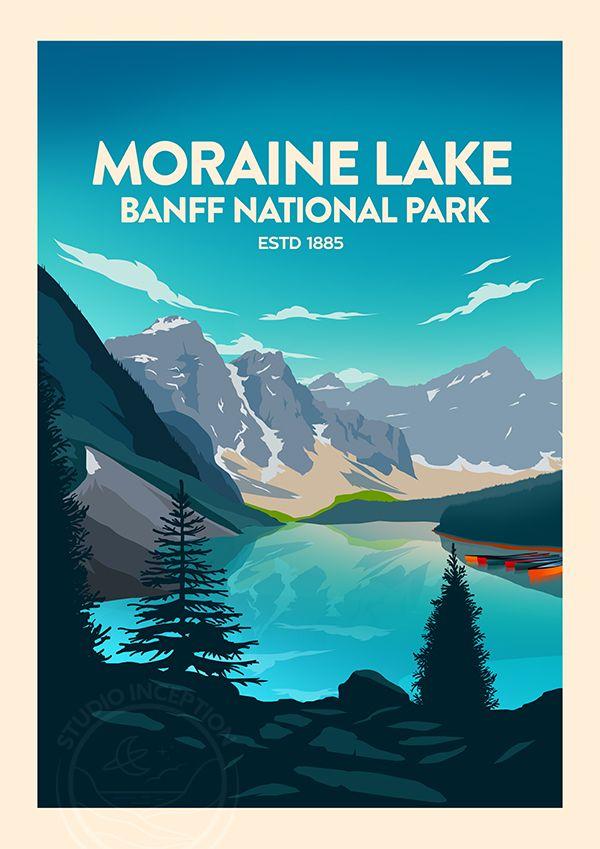 Alberta/'s Rockies Canada Canada Print National Park Canada Art Banff Banff Print National Park Poster Banff Poster Moraine Lake