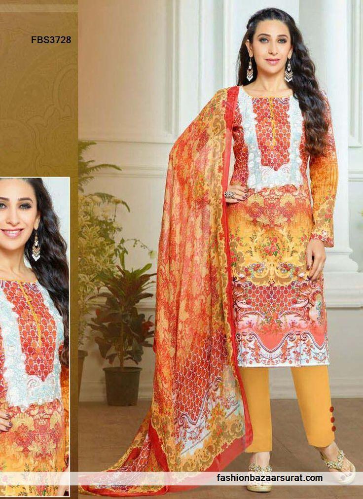 Multi Color Karishma Kapoor Print Work Salwar Suit