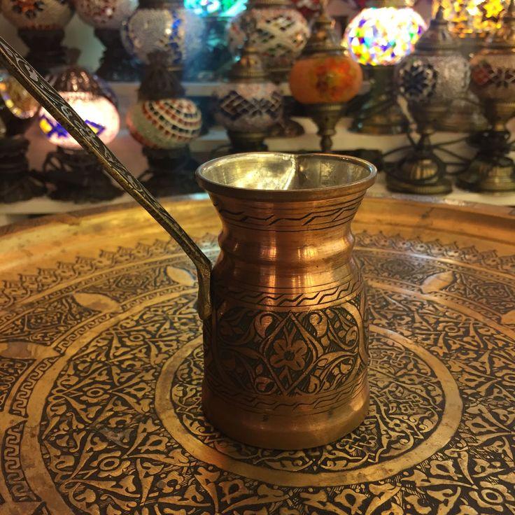 LARGE TURKISH COFFEE POT, COPPER