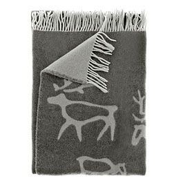 Saaga blanket by Pentik. RRP 79e. Pentik has over 80 stores in Finland, Sweden and Norway. Over one million items are produced at the company's own ceramics factory in Posio in Finnish Lapland every year. The company employs a staff of 300.