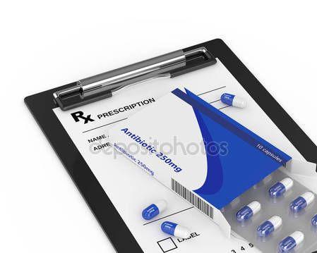 Renderowania 3D antybiotyk tabletki blister Pack z prescripti — Zdjęcie stockowe © ayo888 #134245218