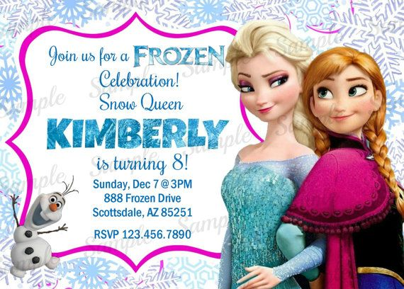 Frozen Invitation  Printable Frozen Inspired by kidspartypixel, $5.88