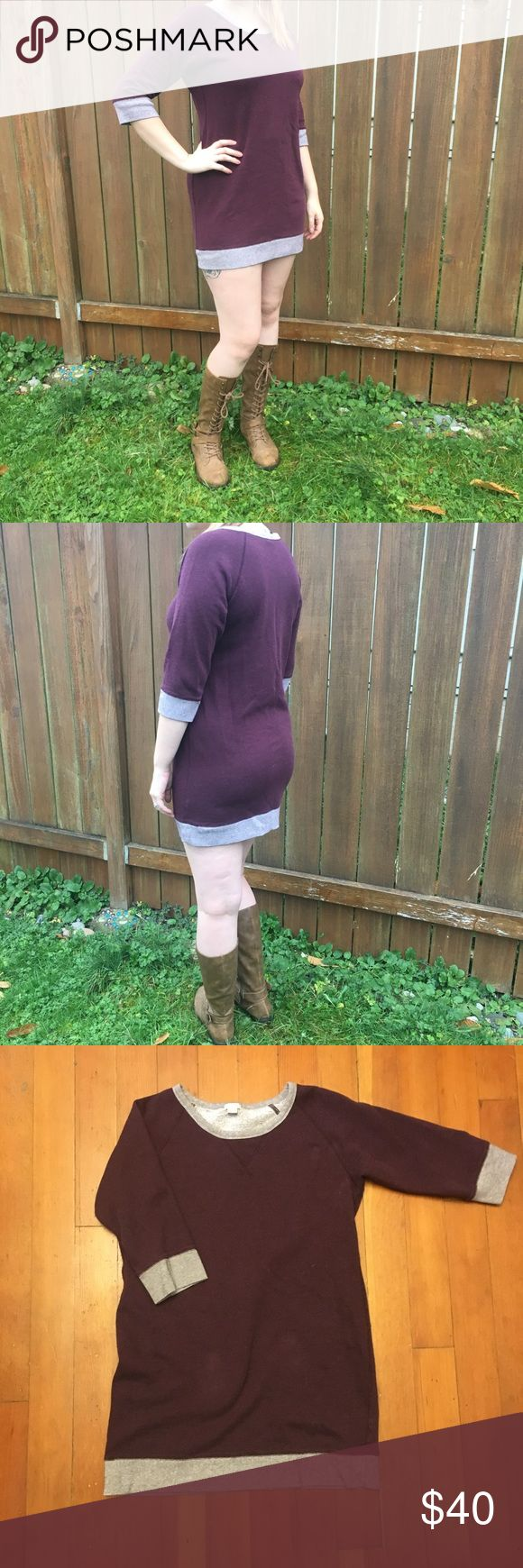 J Crew Sweater Dress Cute maroon sweater dress perfect for any fall/winter ensemble! Pair with leggings or not and some cute boots for that autumn feel 😍 J. Crew Dresses