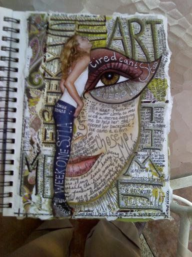 Visual Journal - good for early finishers; monday morning starters; sub days  Idea.... Picture of face with feelings, ideas, loves, fears etc written on it! Lots of colour