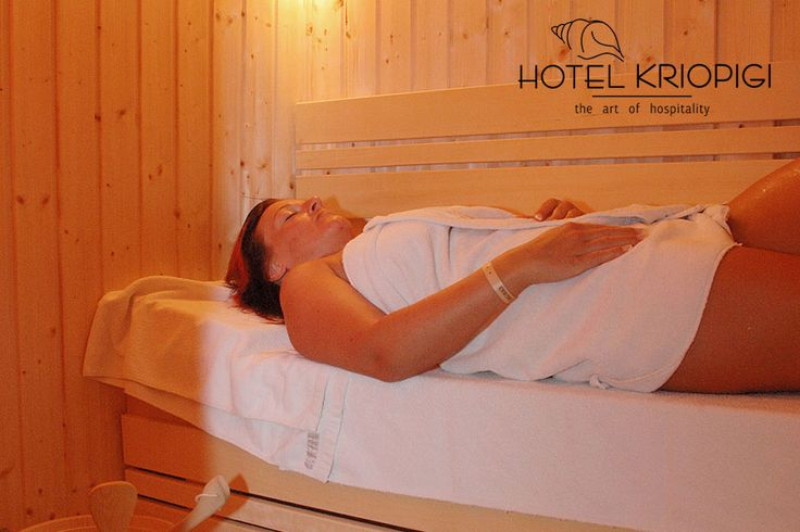 Relax at our Sauna !! You holidays #hotel in #Halkidiki #Greece  http://kriopigibeach.gr/