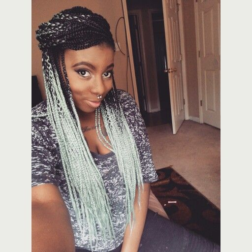 mint braids ethnic hair pinterest colors ombre and