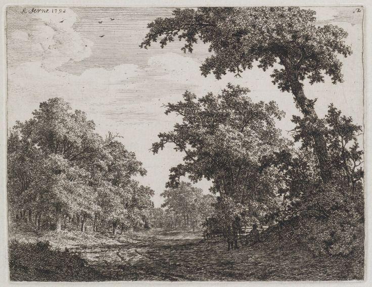 Landschap bij Haarlem met 3 rustende figuren — Teylers Museum